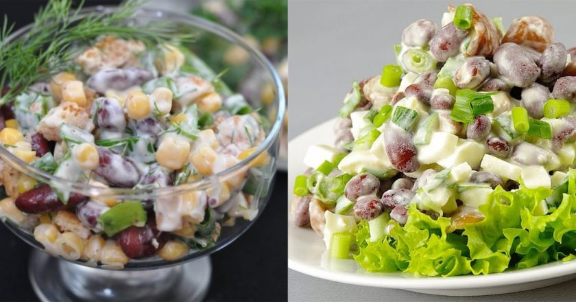 10 лучших салатов с фасолью:…