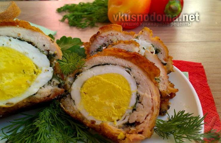 Биточки из куриных грудок с яйцом