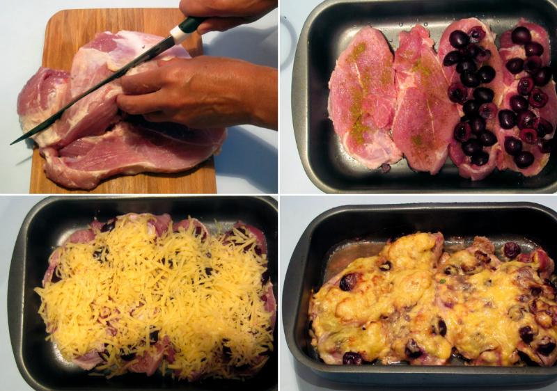 мясо запеченое с ягодами