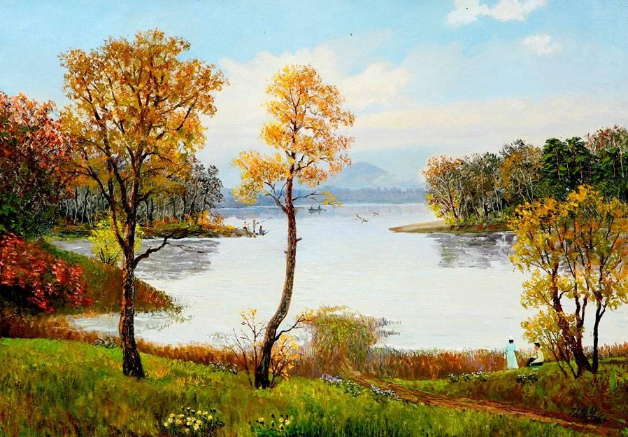 Пейзажи в живописи корейских художников