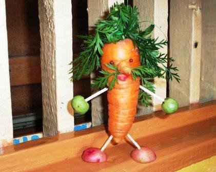Как сделать поделки овощей