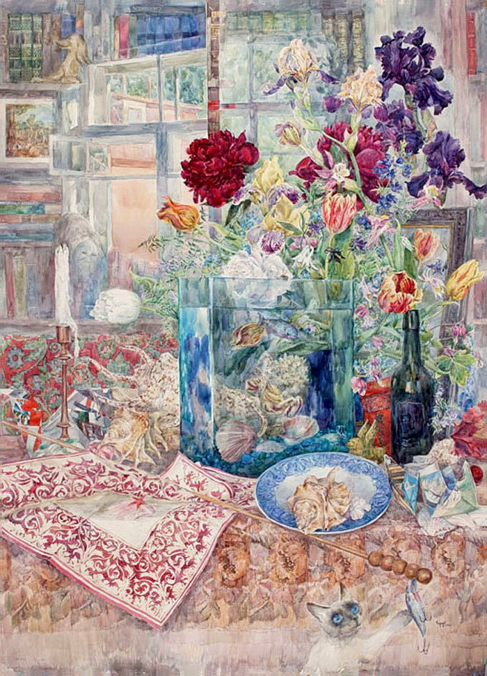 Искусство для души и ума - полные иллюзий и романтических символов акварели Петра Семенова