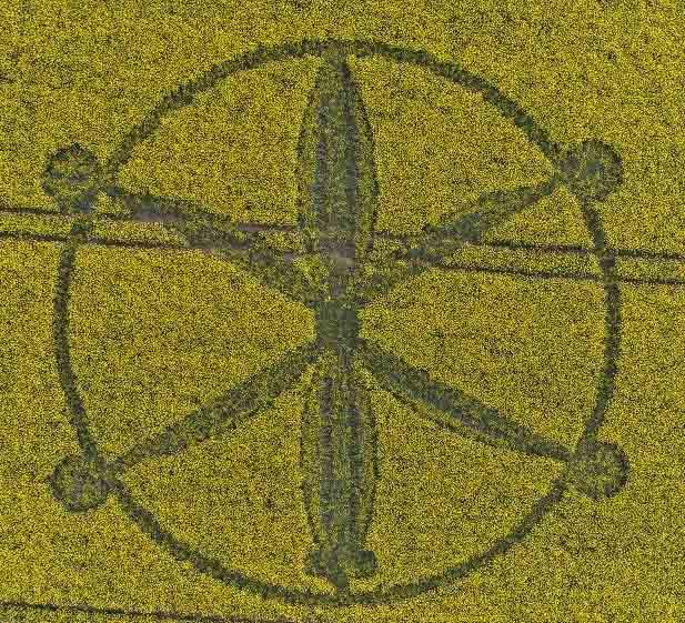 В английском графстве Уилтшир появился рисунок на поле