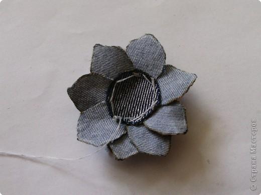 Мастер-класс Вырезание: Цветок из джинса №2+МК Ткань. Фото 12