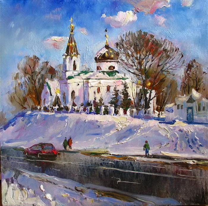 Художник Василий Пешкун. Белоснежные пейзажи