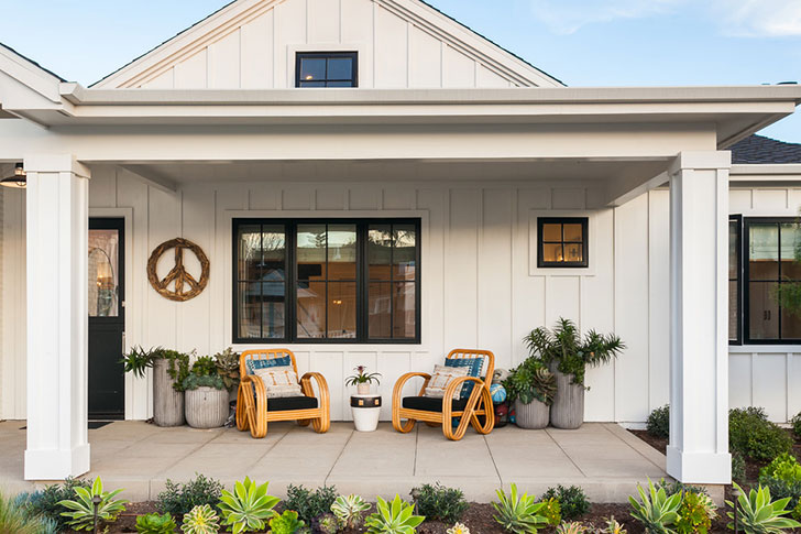 Открытое планировка и уютное патио: курортный домик в Калифорнии