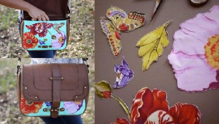Преобразите свою любимую сумочку. Отличная идея, чтобы скрыть недостатки