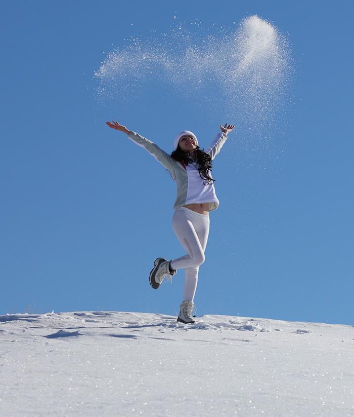 Фотографии красивых девушек в снегу