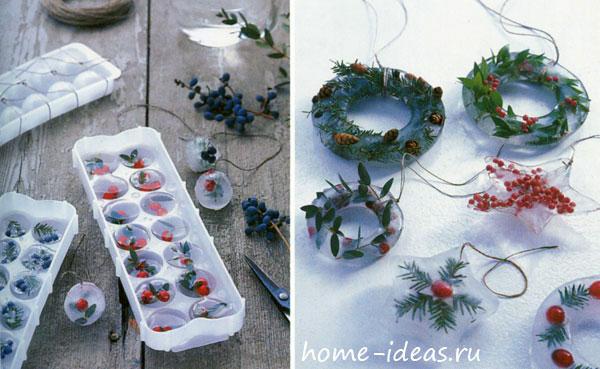 Как сделать красивые ледяные украшения для улицы своими руками