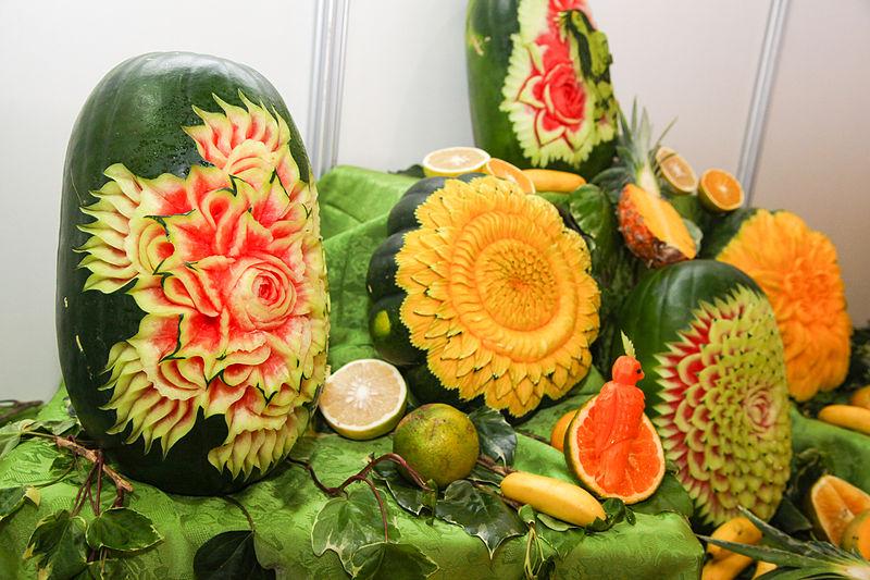 Резьба по фруктам. Самые настоящие шедевры