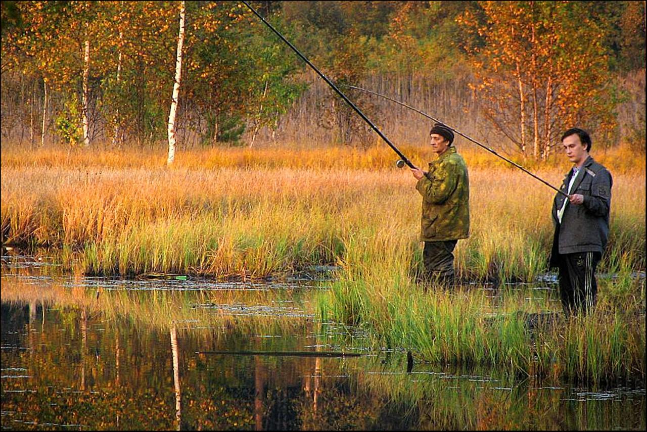 два рыбака рыбалка