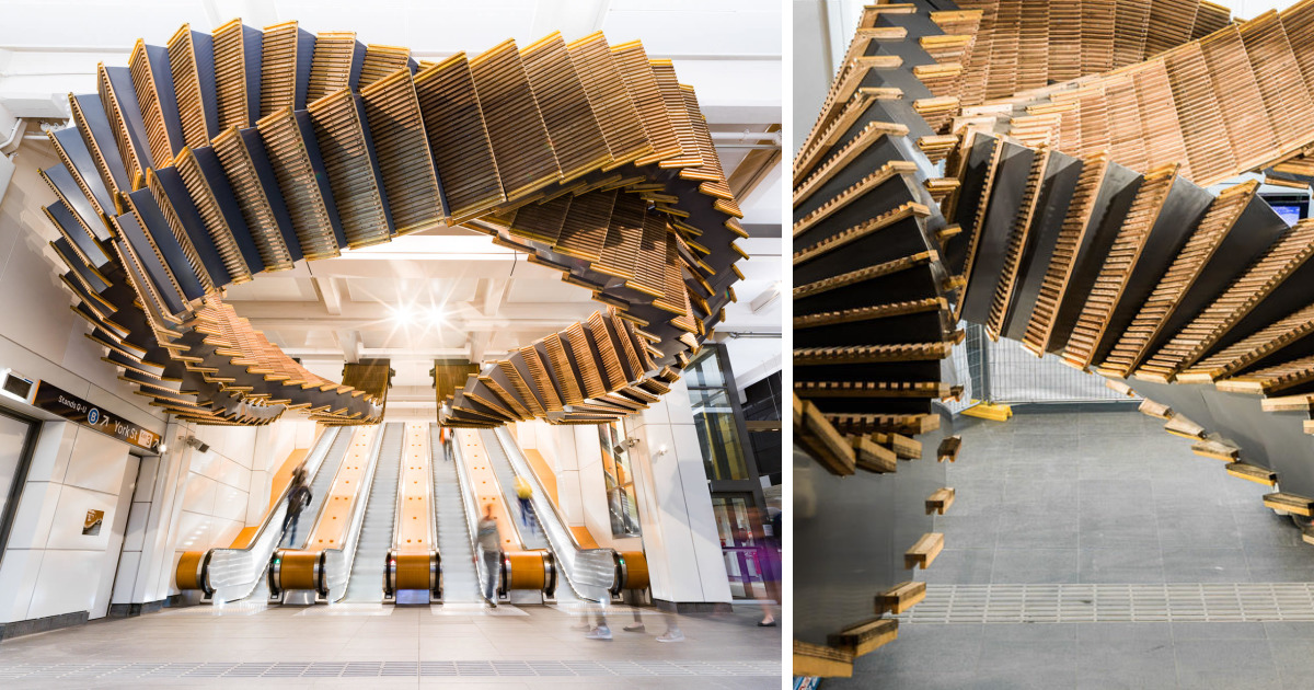 Artist Repurposes Historic Escalator To Create A Mind-Bending Installation That Feels Like A Dream