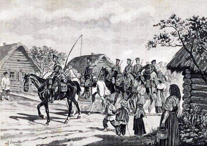 Как крестьяне становились рекрутами