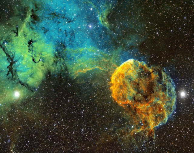 Туманность Медуза - остаток взрыва звезды