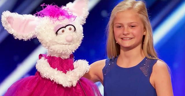 Девочка с кроликом вышла на сцену, судьи не ждали серьезного выступления, но когда номер начался, весь зал был в восторге!