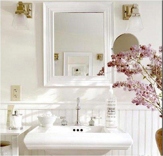 Современный интерьер небольшой ванной комнаты