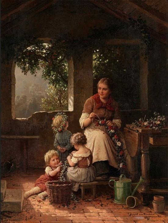 художник Иоганн Георг Майер фон Бремен (Johann Georg Meyer von Bremen) картины – 06