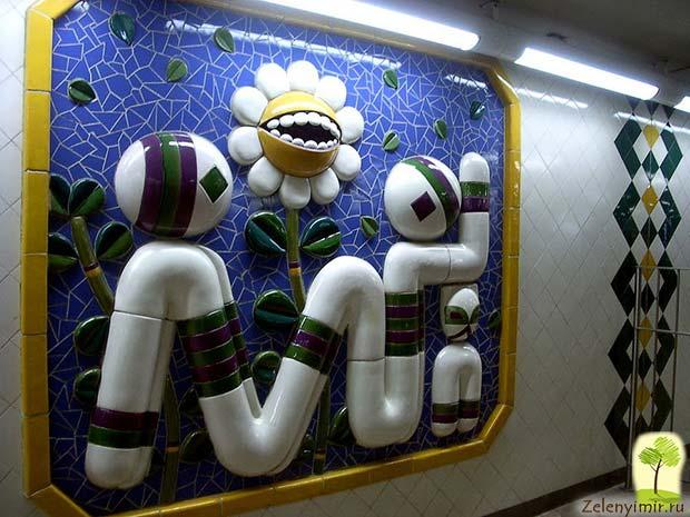 Ошеломляющее метро в Стокгольме – самая длинная художественная галерея в мире, Швеция - 9