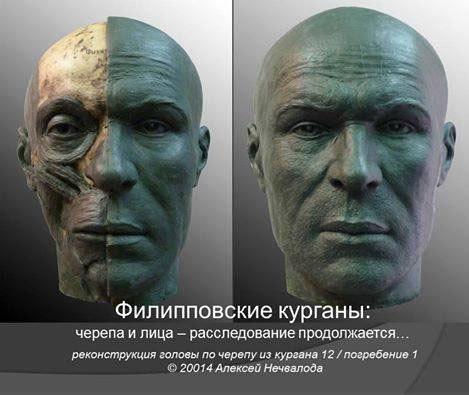 Пластическая реконструкция головы мужчины - сармата. IV век до н.э.