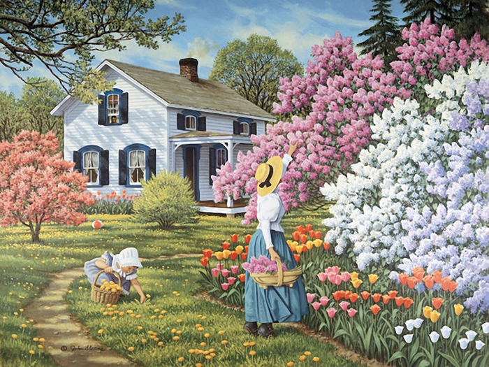 В своем саду вышивка