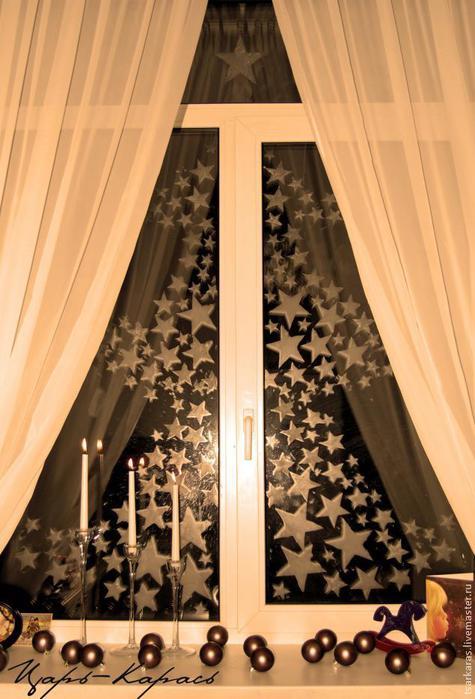 Украшения на окна из бумаги к новому году трафареты барашки картинки
