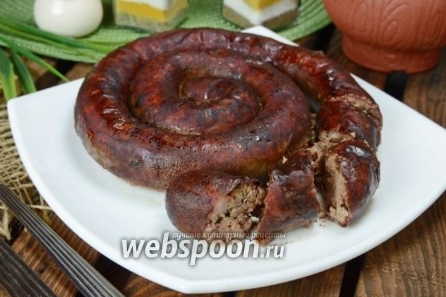 Рубленная печёночная колбаса с чесноком