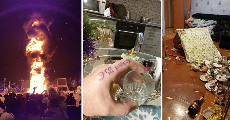 Выжившие 2018: сумасшедшие итоги встречи Нового года 1 января, 2018, законы, новый год, праздник, прикол, стол, юмор