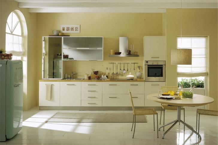 Дизайн кухни в линию