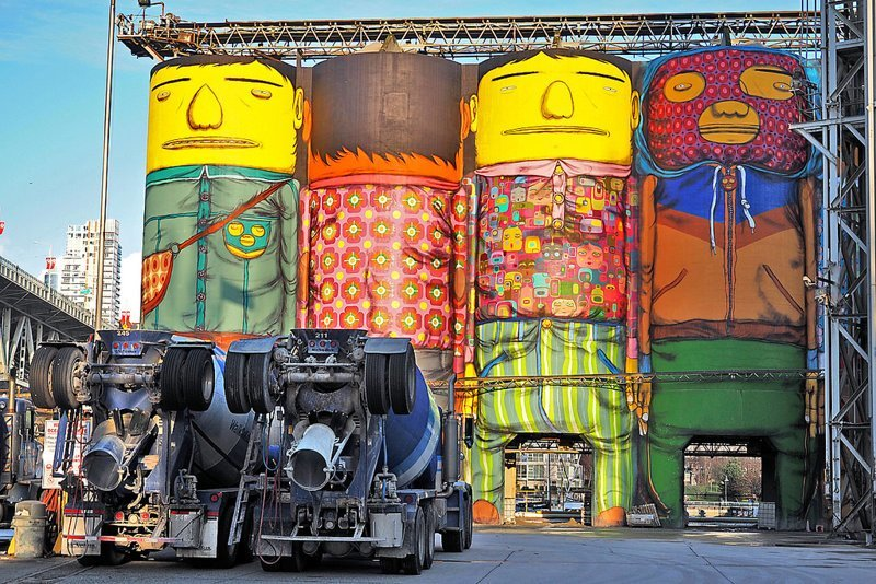 «Сило-арт» — масштабные граффити на элеваторах и зернохранилищах граффити, искусство, стрит-арт, художники, элеватор, эстетика