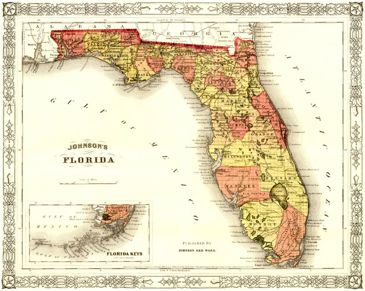Как  США отжали у Испании  Флориду