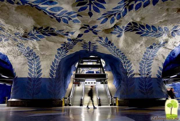 Ошеломляющее метро в Стокгольме – самая длинная художественная галерея в мире, Швеция - 26