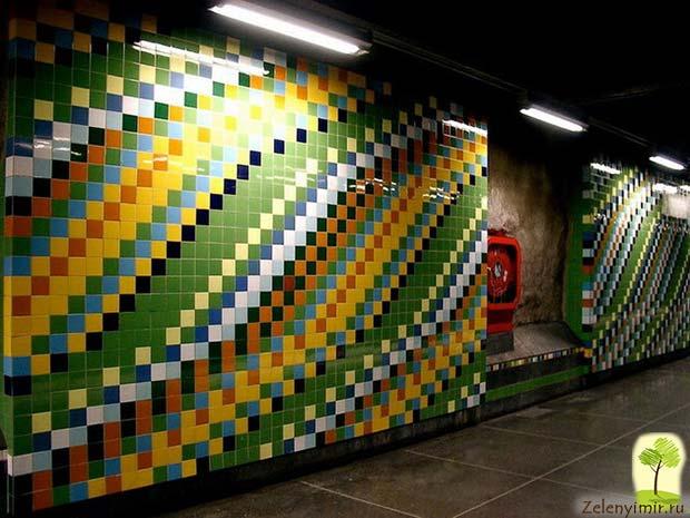 Ошеломляющее метро в Стокгольме – самая длинная художественная галерея в мире, Швеция - 10