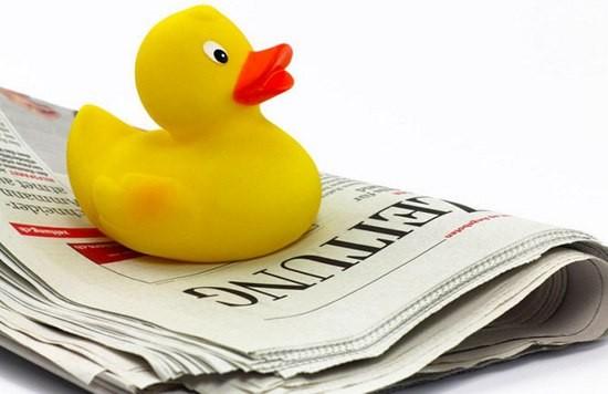 Почему ложь в прессе называют уткой?
