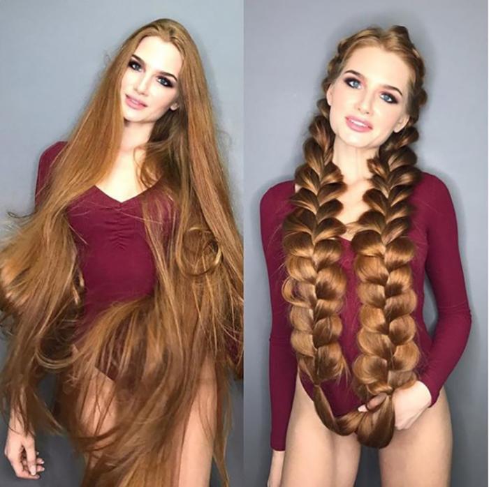 Расти коса до пояса.  Instagram sidorovaanastasiya.