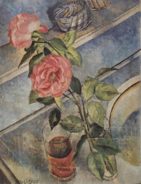 """Петров-Водкин. """"Натюрморт с розами"""". 1922"""