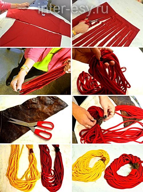 Как сделать шарф своими руками из ткани