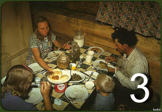 Американская семья за обедом