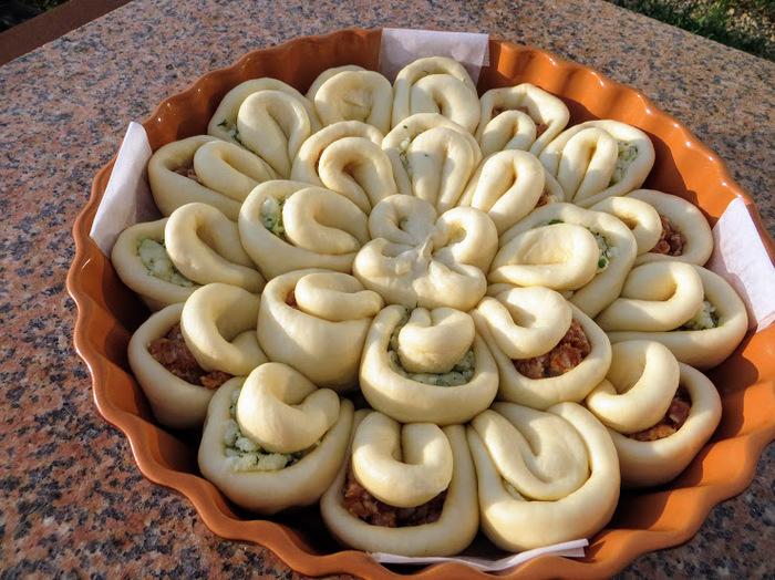 Пирог с очень вкусной начинкой (по мнению автора) Пирог, Начинка для пирога, Выпечка, Приготовление, Рецепт, Другая кухня, Видео, Длиннопост, Кулинария