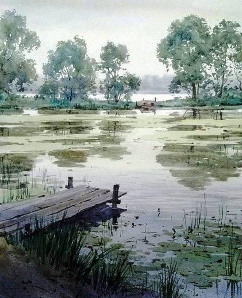 Акварельный блюз — задумчивые пейзажи Ильи Горгоца