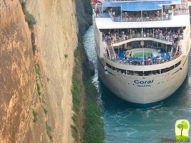 Коринфский канал в Греции – самый узкий судоходный канал в мире - 9