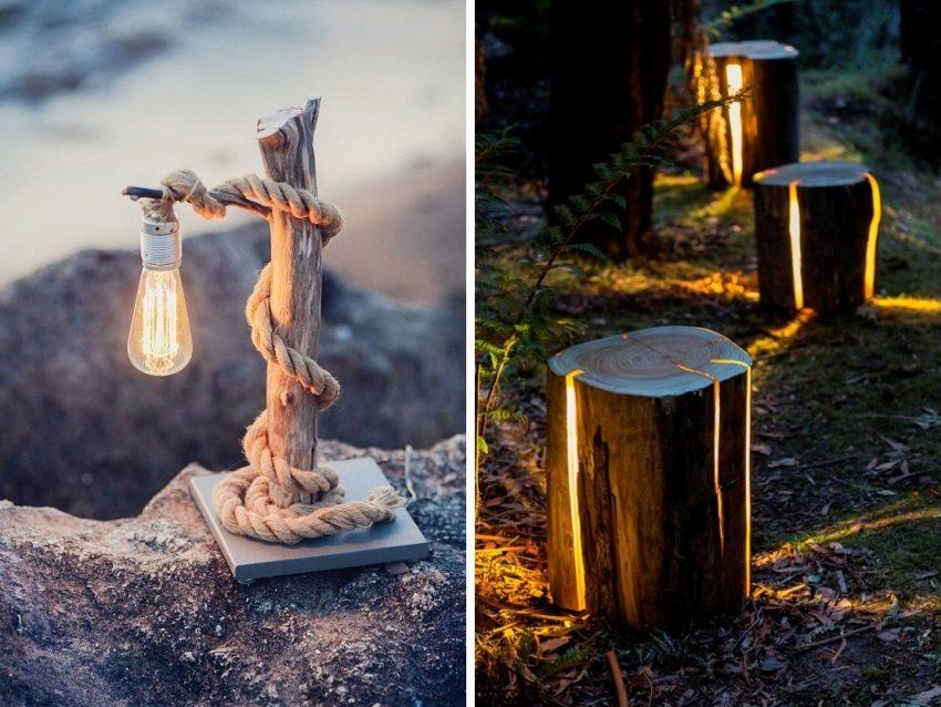 Декоративное освещение создаст особую атмосферу на участке в вечернее время суток