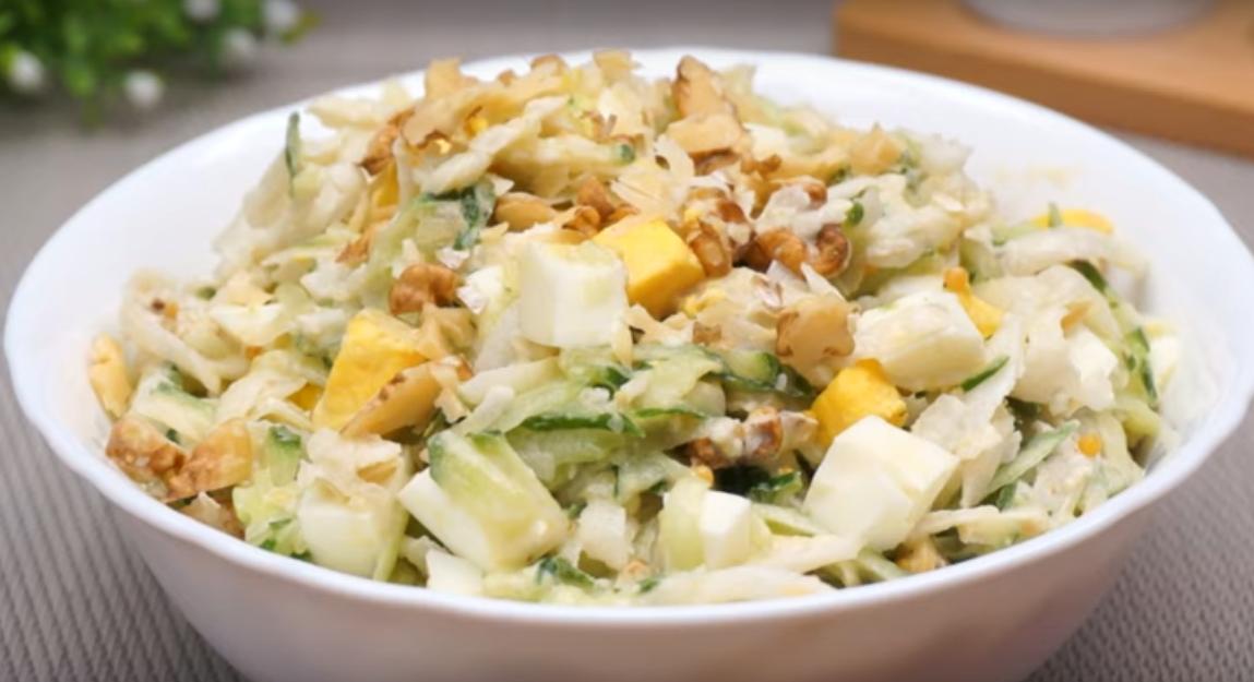 Салат с дайконом и огурцов - вкусное и полезное блюдо