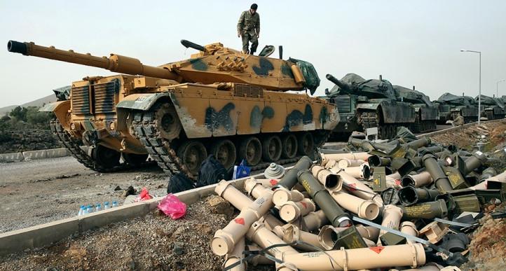 Курды обвинили Турцию в применении напалма в Африне