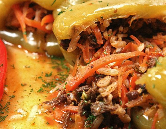 перцы, фаршированные рассыпчатой начинкой от www.dunduk-culinar.ru