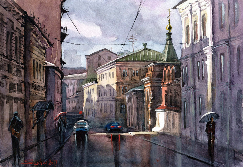 Акварельные пейзажи России в…