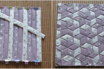 Из лоскутков ткани делаем интересную плетенку