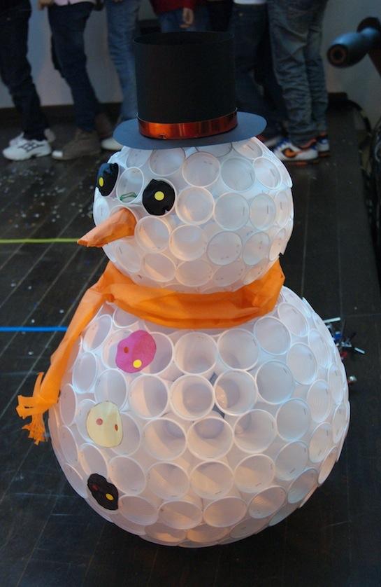 Снеговик своими руками из подручных материалов фото