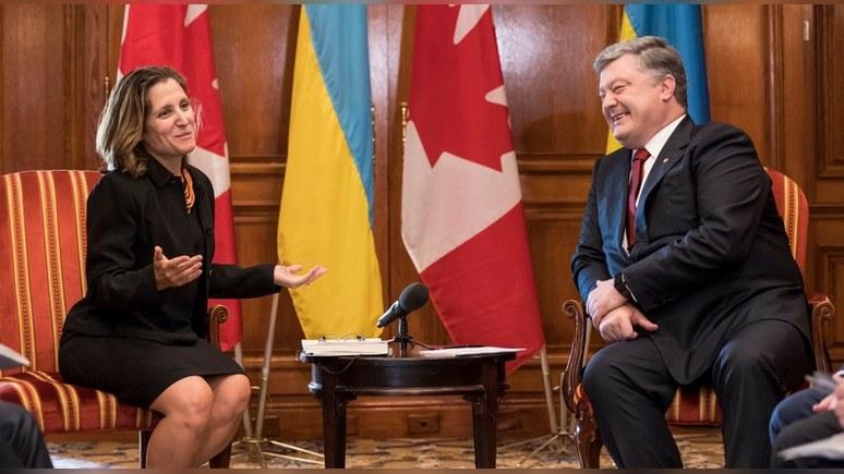 ЛIГА.net: Порошенко попросил канадцев усилить санкционное давление на Москву