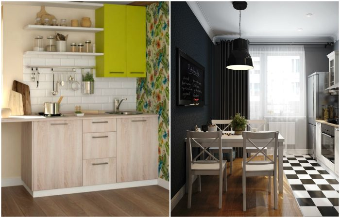 Идеи для маленьких кухонь