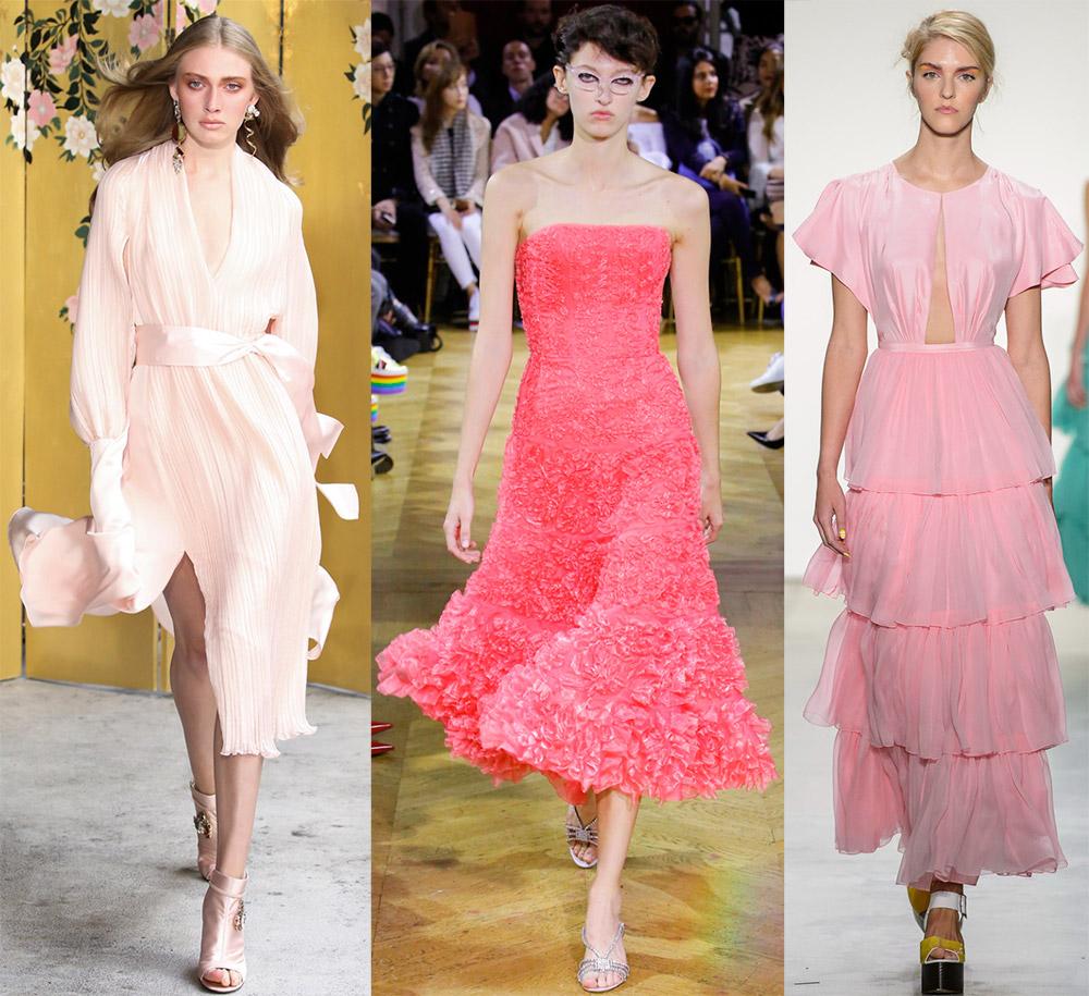 Розовые платья 2018